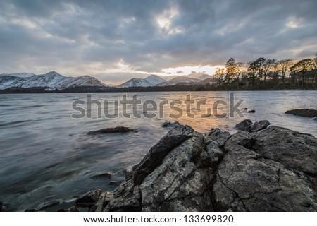 Lake District Mountains - stock photo