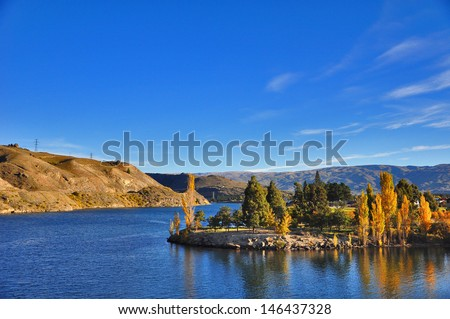 Lake Dunstan, Otago, New Zealand - stock photo
