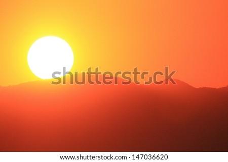 lake garda sirmione sunset - stock photo