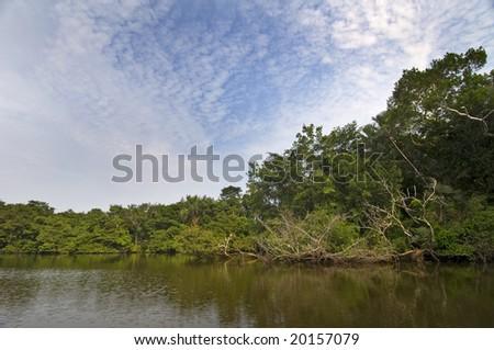 Lake Garzacocha in Ecuador - stock photo