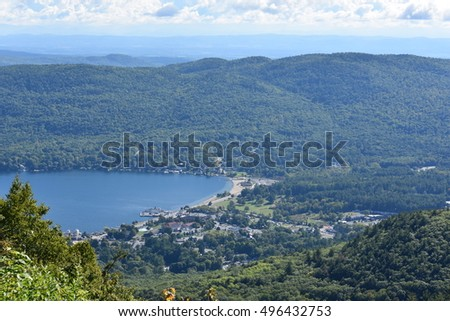 Lake George in New York State, USA