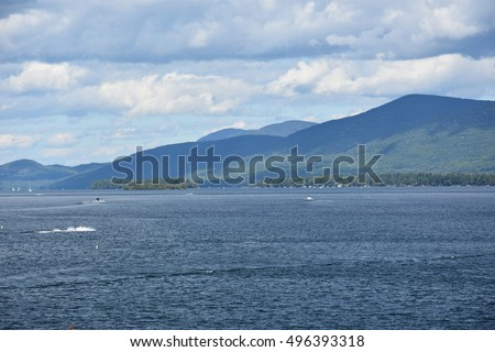 Lake George in Upstate New York, USA