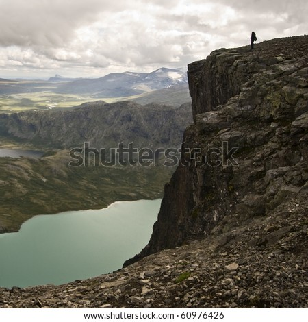 Lake Gjende in Jotunheimen, Norway - stock photo