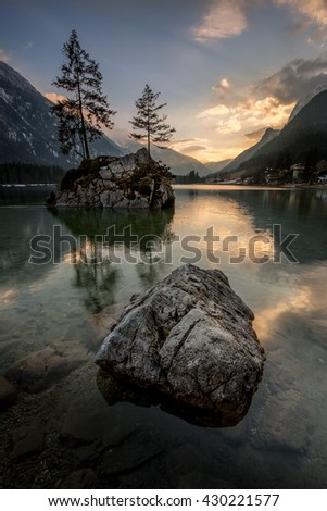 Lake Hintersee in Bavaria/Germany.
