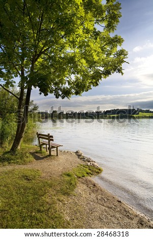 lake in Austrian Alps - stock photo