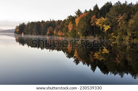 Lake in Autumn Algonquin Muskoka Ontario colors