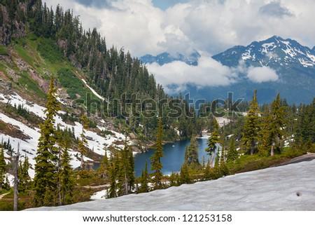 Lake in Baker Area - stock photo