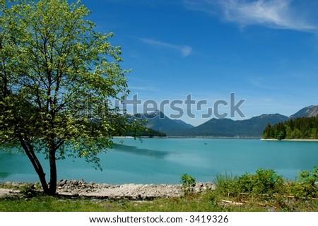 Lake in Bavaria - stock photo
