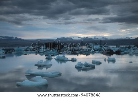 Lake in Iceland - stock photo