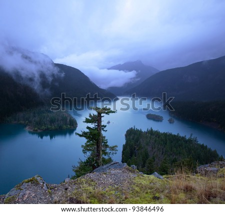 lake in North Cascade National Park,USA