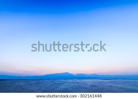 Lake in Thailand ,Motion blur - stock photo