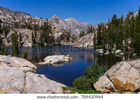 Lake in Yosemite National Park in USA