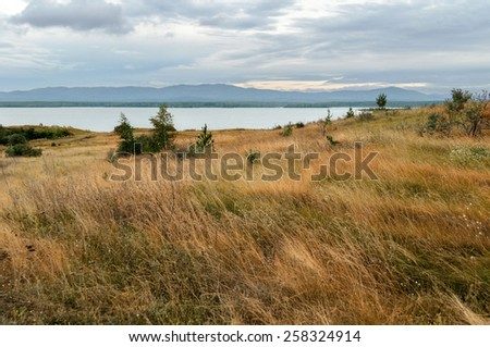 Lake Irtyash in Southern Urals in Russia (soft filter processing) - stock photo
