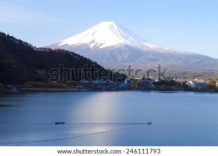 Lake Kawaguchiko is the most easily accessible of the Fuji Five Lakes with train and direct bus connections to Tokyo.