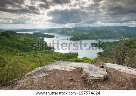 Lake Keowee Jocassee Gorges Upcountry South Carolina - stock photo
