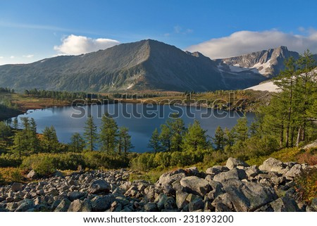 "lake ""Kurgloe"" in Siberia - stock photo"