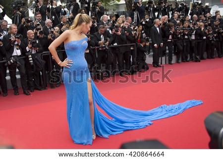 lake Lively attends the BFG premiere, red carpet arrivals during The 69th Annual Cannes Film Festival on 14 may 2016 at Palais du festival in France, Cannes - stock photo