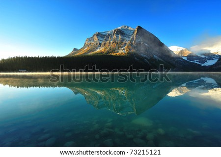 Lake Louise, Banff National Park in Alberta Canada - stock photo