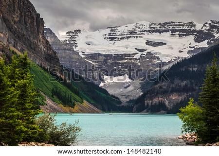 Lake Louise during summer - stock photo