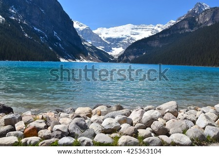 Lake Louise in Alberta, Canada - stock photo