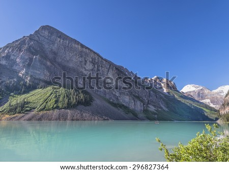 Lake Louise in Banff National Park, Canada - stock photo