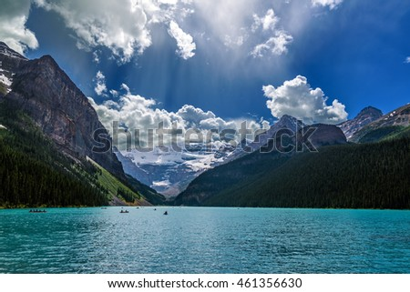 Lake Luise in Banff National Park, Alberta, Canada