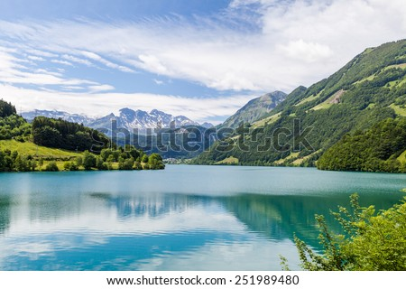 Lake Lungern at Brunigpass, Switzerland