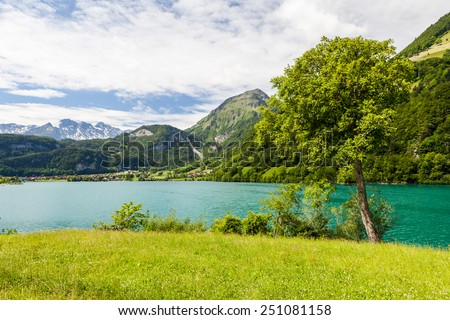 Lake Lungern, Switzerland - stock photo