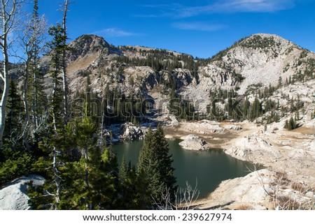 Lake Mary, Uinta-Wasatch-Cache national forest. Utah, United States - stock photo