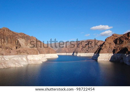 Lake Mead near Hoover Dam in Nevada, USA - stock photo