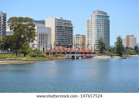 Lake Merritt, Oakland, California - stock photo