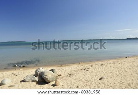 lake Michigan beach - stock photo