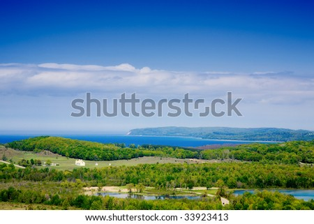 Lake Michigan lakeshore in the northern part of the state - stock photo