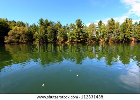 Lake Minocqua Wisconsin - stock photo
