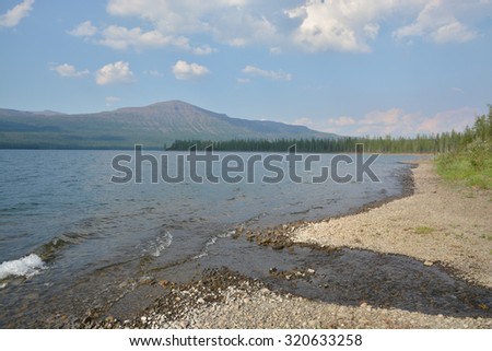 Lake Nachmachen. Lake view on the Putorana plateau, Taimyr, Siberia, Russia.