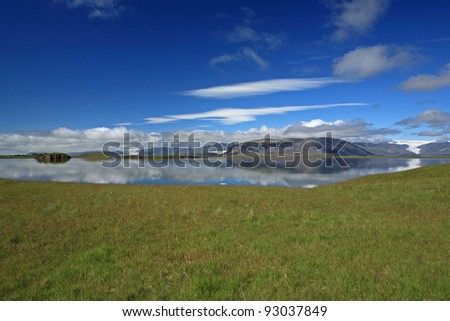 Lake near Höfn, Iceland - stock photo