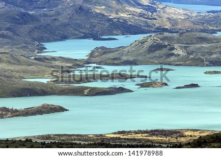Lake Nordenskjold in Torres del Paine National Park.