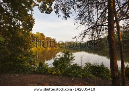 Lake Norman in the Piedmont of North Carolina - stock photo