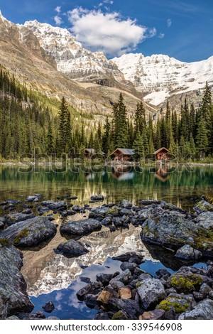 Lake O'Hara Mountain scenery in Yoho National Park, British Columbia, Canada - stock photo