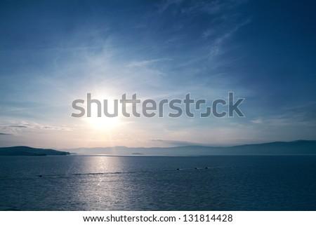 lake of Baikal in winter - stock photo