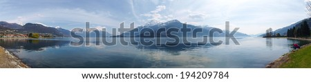 Lake of Como, Italy: Images on the lakefront between Dongo and Gravedona - stock photo