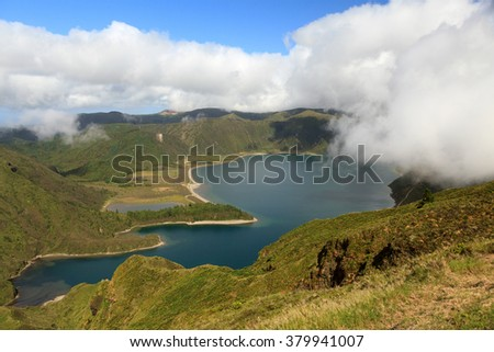 Lake of Fire (Lagoa do Fogo) in Sao Miguel Island â?? Azores, Portugal