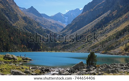Lake of Gaube in Pyrenees