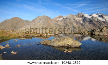 lake of Lauson, at the Vittorio Sella refuge - Gran Paradiso National Park
