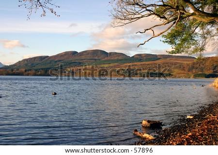 Lake of Mentieth - stock photo