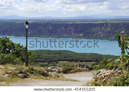 Lake of Sainte-Croix (France) with the Verdon river