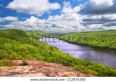 Lake of the Clouds Michigan - stock photo