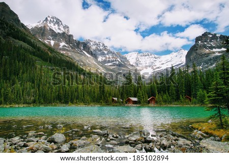 Lake Ohara, Yoho national park, Canada - stock photo