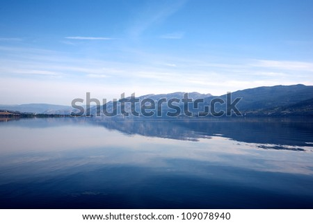 Lake Okanagan - stock photo