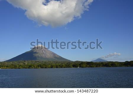 Lake Ometepe Nicaragua - stock photo
